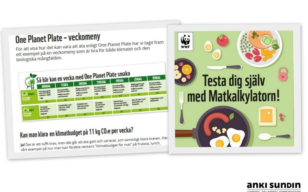 One Planet Plate ur perspektivet svenska livsmedel, matsvinn och säkerhet.