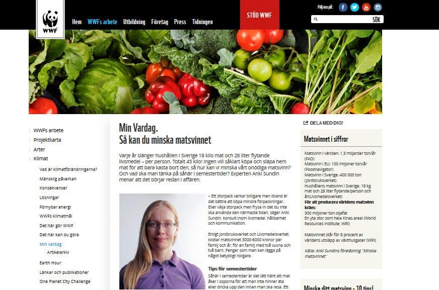 Bli expert på minskat matsvinn – artikel hos WWF